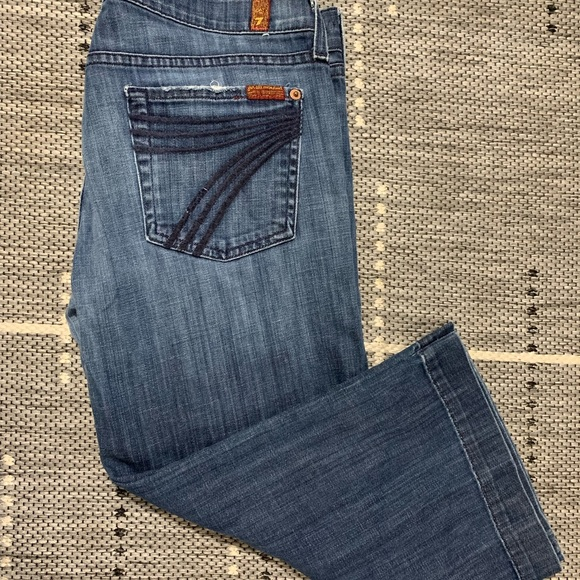 7 For All Mankind Denim - Seven For all mankind dojo Crop denim size 29